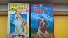LASSIE VOLUME 2 AND RUSTY VHS VIDEO