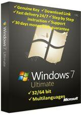 Windows 7 Ultimate 32+64 Bit✔️Original Genuine License🔑Key⚡Delivery in 30s