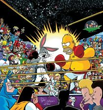 AFFICHES HOMER SIMPSON BART LISA BUGS BUNNY BOXE BIG A9
