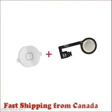 New Home Button & Home Button Flex Cable Replacement For iPhone4S 4GS - White