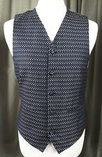 Marks and Spencer 100% Silk Silver Black Dot Waistcoat -  Chest 37""