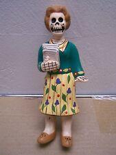 Day of the Dead Clay Desktop Skeleton School Teacher Sculpture - Peru