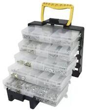 Hágalo usted mismo Organizador Bolso Caja Bandeja 5 bandejas de 1000 Accesorios Tornillos Ganchos Surtidos Hardware