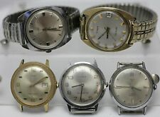 Lot Of 5 Timex Electric Electronic Quartz Automatic Men's Wrist Watches - 4u2fix