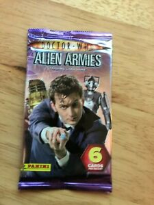 Sealed Packet of Panini Doctor Who Alien Armies Trading Cards (6 cards) 2009