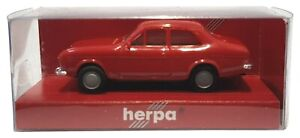 1:87 Scale Herpa 022767 Ford Escort Mk.1 Saloon - Red - BNIB