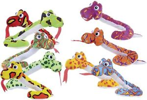 Colourful Snake Soft Toy 56cm in size, Assorted designs with 1 sent at random.