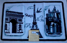"Paris Eiffel Tower Paris Stamps Hand Carved Bath Mat 31.5"" x 19.7"" Popular Bath"