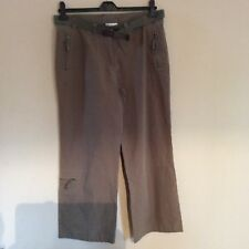 WOMENS KHAKI TROUSERS WITH BELT FROM BHS SIZE 12
