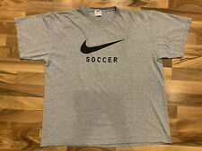 Vintage Nike Soccer T Shirt Adult Xl Gray