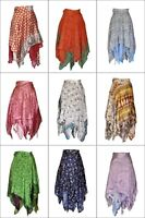 Women Bikini Cover Up Beach Sarong Dress Sari Casual Wrap Skirt Silk
