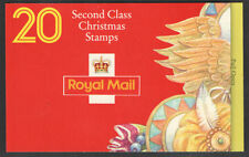 LX7 1994 Christmas Barcode Booklet Cyl B1A- B1F 20 x 2nd class (19p) - complete