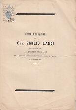 FIRENZE SAN FREDIANO COMMEMORAZIONE DEL CAV. EMILIO LANDI 1894 VIA DEL LEONE