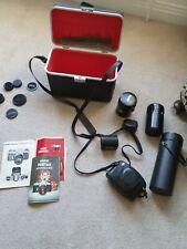 Ashanti Pentax Spotmatic Camera And Various Lenses
