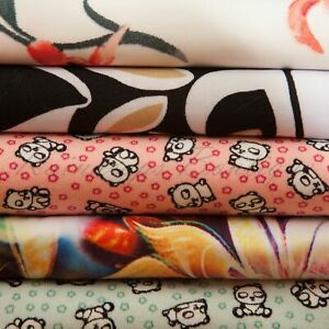Jersey Stretch Fabrics Polyester Floral Prints Adult Great Quality per metre