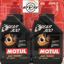 2 Litri Olio Cambio Trasmissione Differenziale Motul Gear 300 SAE 75w90 GL4 GL5
