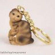 scottish fold brown cat key chain great gift
