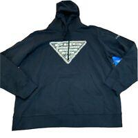 Columbia Mens Triangle Hoodie Brand New Size XL Black Sweatshirt NWT
