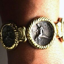 Lanz Gold Bracelet with Real silberstateren 300 BC Taranto Dolphin Rider @ 3