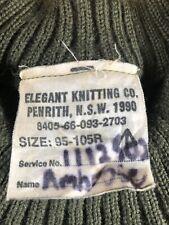 Australian Army OG Service Wool Jumper 1990