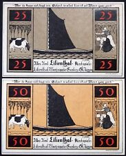 """LILIENTHAL 1921 """"Sailboats, Farming, Cows"""" w/o series complete set Notgeld"""