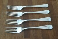 """VINTAGE CUTLERY - SET OF 4 FORKS - A.E.POSTON & Co.Ltd - SILVER PLATED = SIZE 7"""""""
