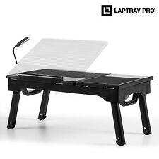 Notebooktisch Laptoptisch Klapptisch mit LED Lampe Betttisch Couchtisch NEU