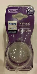 Philips Avent Natural Baby Bottle Nipples 4 Pack Newborn 0M NEW Sealed