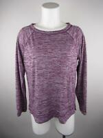 Ann Taylor Loft Outlet Women's sz M Purple Lounge Printed Scoop Neck Knit Top