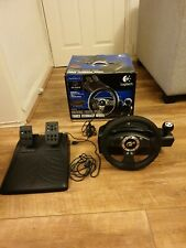Logitech Driving Force Pro Force Feedback Steering Wheel & Pedals for PS2 boxed