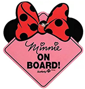 Baby On Board Disney Baby Minnie Mouse On Board Car Sign Safety 1st FREE SHIP!