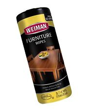 Weiman Wood Cleaner and Polish Wipes - Non Toxic For Furniture To Beautify & ...