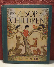 The Aesop for Children Milo Winter Rand McNally 1947 Hardcover Illustrated