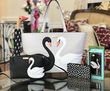 NWT,Kate Spade 5pcs Set Swan Tote Handbag&Crossbody&Wallet&Umbrella&Iphone7 case