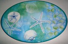 "STARS OF THE SEA  Melamine Oval Serving Platters  20"" x 14"""