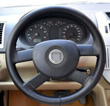 """High Quality Luxury Genuine Leather Car Steering Wheel Cover DIY Goods 14.5""""-15"""""""