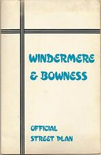 1981 Road Map WINDERMERE BOWNESS South Lakeland Cumbria England Index Adverts