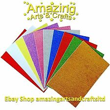 10 Foam Sheets for Craft Self Adhesive A4 Glitter Assorted Colours