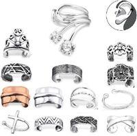 925 Sterling Silver Ear Cuff Clip Huggie Lip ring Crystal Leaf Earring Crawler