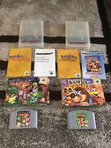 Banjo Kazooie + Tooie (Nintendo 64, N64) Complete in Box -- Authentic -- Tested
