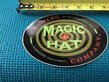 "MAGIC HAT BREWING COMPANY 4 1/4"" X 5 3/4"" Beer STICKER Label, Burlington VERMONT"