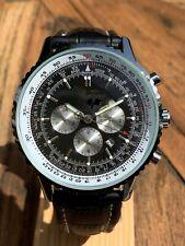 Gents 45mm Classic Navigator Pilot Automatic Chronograph with Slide Rule Bezel