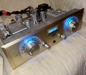 H.H. Scott Stereomaster 330-D Stereo AM-FM Stereo Tube Tuner SERVICED-blue led's