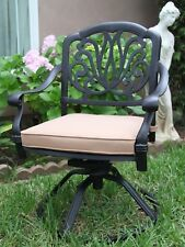 Elisabeth Collection Cast Aluminum 2 Swivel Rockers with Cushions