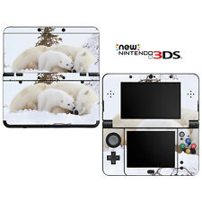 Vinyl Skin Decal Cover for Nintendo New 3DS - Baby Polar Bear Cub with Mom