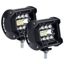 2x 400W 4 in Car LED Work Light Bar Spot Flood Beam Combo Off-road SUV Truck 4x4