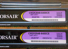 CORSAIR 8GB (4 X 2GB) DDR2 PC2-6400 DESKTOP CM2X2048-6400C5 XMS2 (6 kits avail)