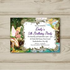 Tinkerbell Birthday Party Invitations Personalised