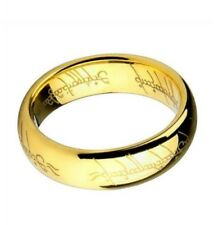 Titanium GOLD LORD Of Rings One ring hobbit band gift SIZE 7- 13