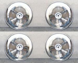 n°4 Coppe Borchie in Alluminio per Ruota FIAT 500 D N F